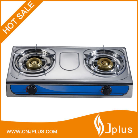 Double Burner Stainless Steel Gas Cooker Jp-Gc204L