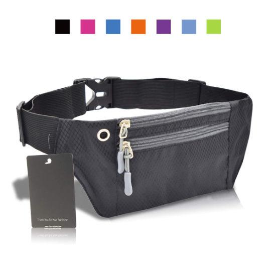 5e318757942f Running Fanny Pack, 3 Pocket Travel Money Waist Bag, Water Resistant
