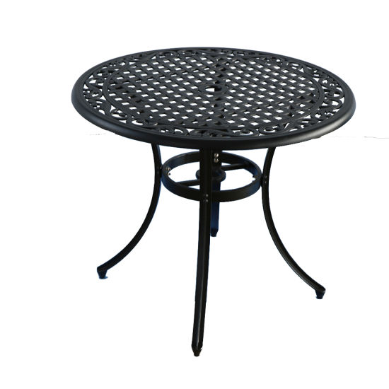 China Cast Aluminum Garden Sets Outdoor Metal Round Dining Table Set For Coffeehouse China Outdoor Garden Tables Outdoor Garden Sets