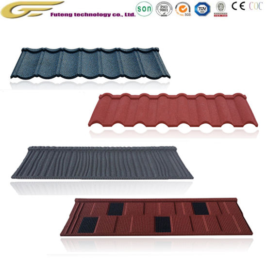 Steel Sheet Roofing Shingles Colored Stone Coated Metal Roof Tile
