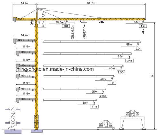 H25/14 (TC6014) Tower Crane-10t