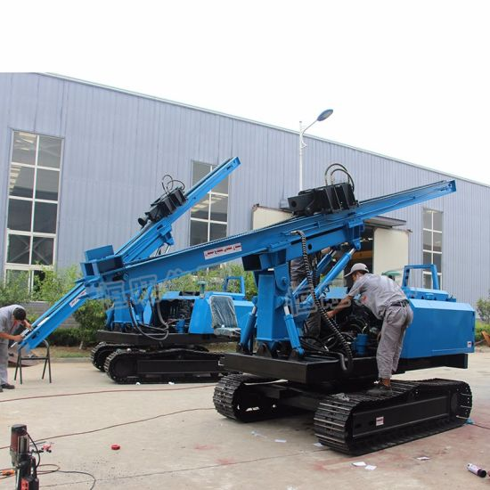 Guardrail Post Driver Hydraulic Press Sheet Pile Driver