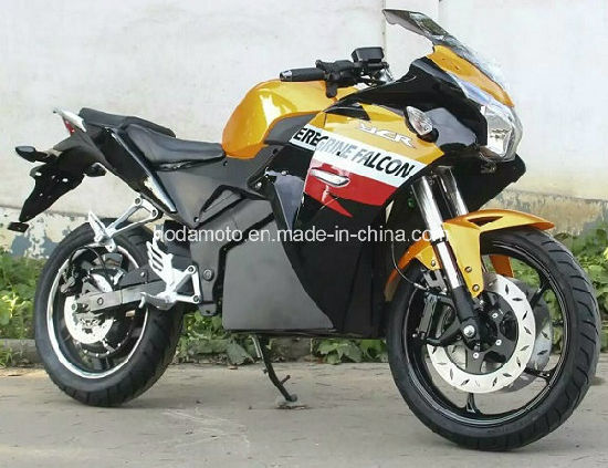 Fast Sd 120km H Electric Motorcycle 5000watt Lithium Battery