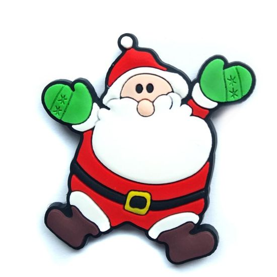 Santa Claus Shape Refrigerator Magnet Christmas Gift for Children (SC-126) pictures & photos