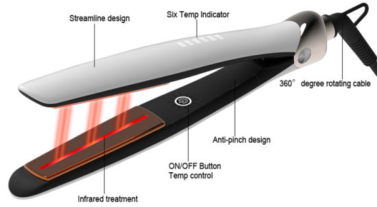 Top 10 Electric Private Label Infrared Flat Iron (V189) pictures & photos