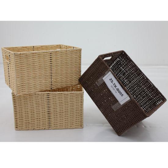 China Crafted Paper String Home Basket Zstk B005 China Storage