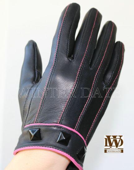 Patch/Piece Sheep Leather Glove Pl-005L