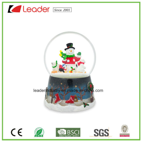 Polyresin Craft Gift 80mm Water Globe with Animal Figurines for Home Decoration and Promotional Gifts pictures & photos