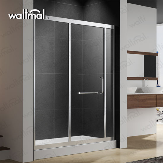 China Sliding Shower Door With 14 Thick Crystal Clear Glass And