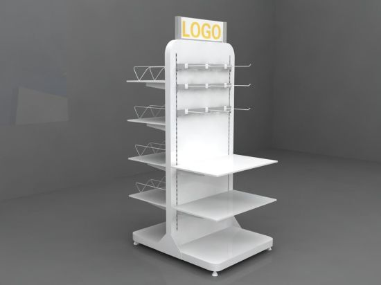 New Design Adjustable Display Stand Rack, Convenience Store Metal Display Rack pictures & photos