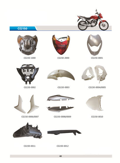 Cg125 150cc Motorcycle Scooter Plastic Spare Parts for Honda pictures & photos