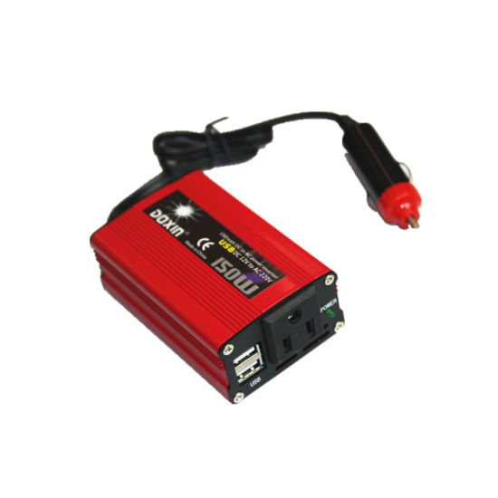 DC to AC 12V to 110V 150W Dual USB Car Inverter