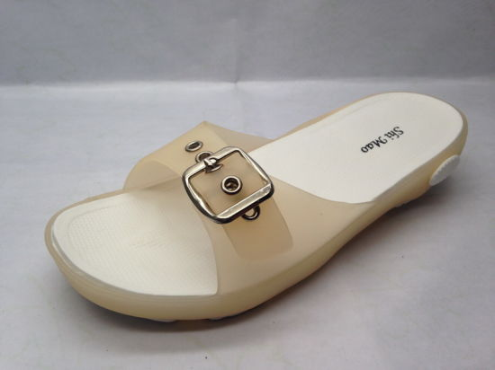 Colorful PVC Transparent and Rubber EVA Slipper (21IV1601) pictures & photos