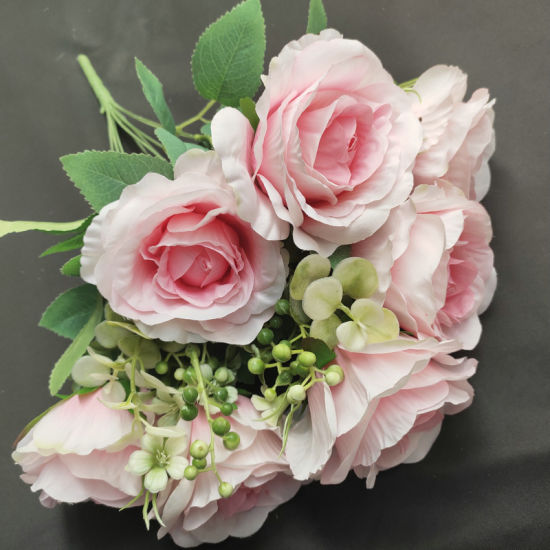 China Artificial Fabric Rose Flower Bouquets Arrangement Wholesale For Wedding And Events Decor China Artificial Flowers And Silk Flowers Price
