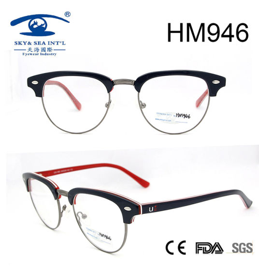 02dd101ae Italy Design German Full Rim Acetate Optical Frame (HM946) pictures & photos
