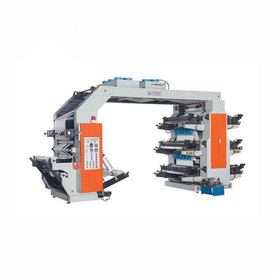High Quality 6 Colour Flexo Printing Machine in Mexico Plastic Film New 2 Color Flexo Flexographic Printing Printers