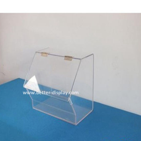 Plexiglass Supermarket Display Box Acrylic Food Box with Spoon Holder (BTR-K4004)