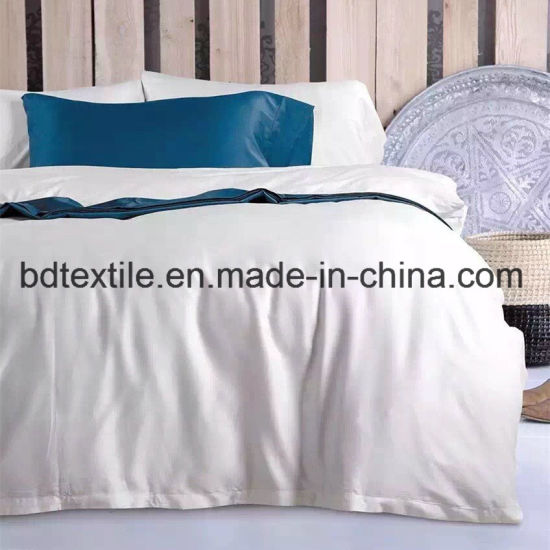 100 Polyester Microfiber Dyed Bed Sheet Fabric For Hotel Pictures Photos