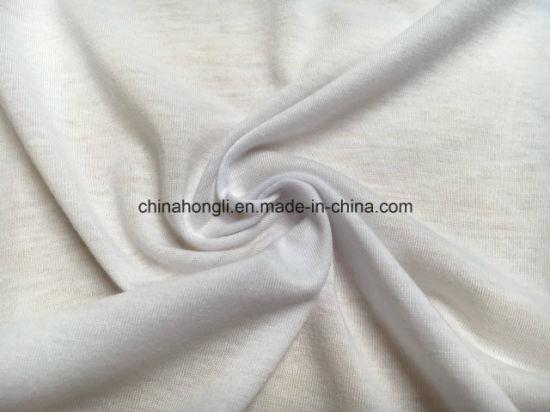 T C 65 35 160gsm Slub Single Jersey Knitting Fabric For T Shirt