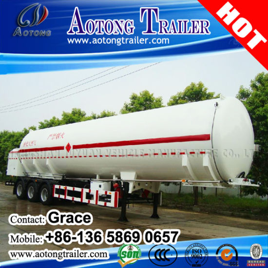 40000 Liters Oil Fuel Transportation Tank Semi Trailer pictures & photos