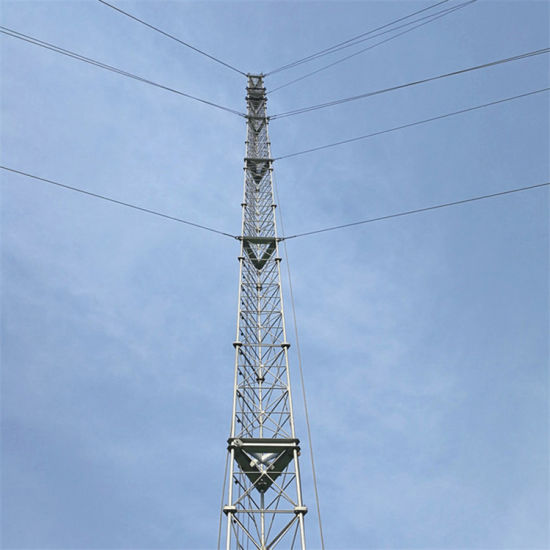 High Quality Galvanized Steel Lattice Communication Telecom Guyed Tower pictures & photos