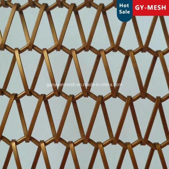 Copper Balanced Spiral Weave Mesh for Decorative Wire Mesh