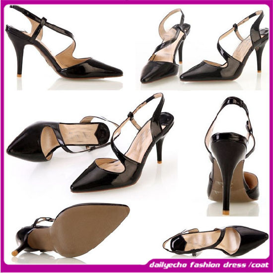 2015 Fashion Lady High Heel Casual Shoes Thin Heels with The Fine Leather with The Lartest Design (W90923)