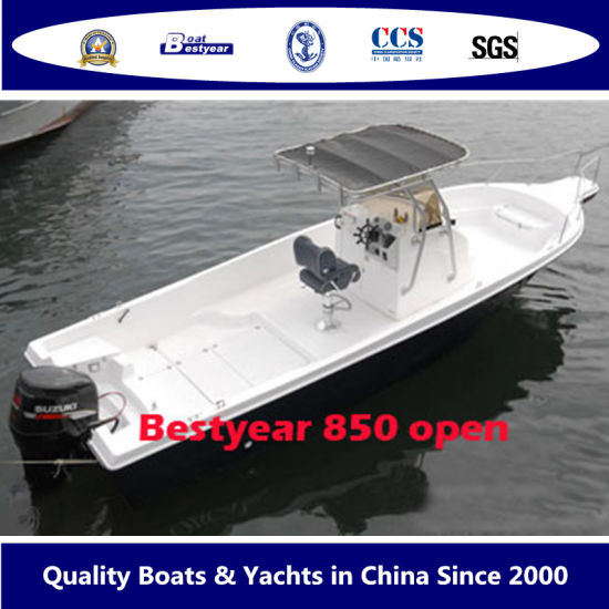 Bestyear 8.5m Open Boat for Fishing and Sport with Console or T-Top pictures & photos