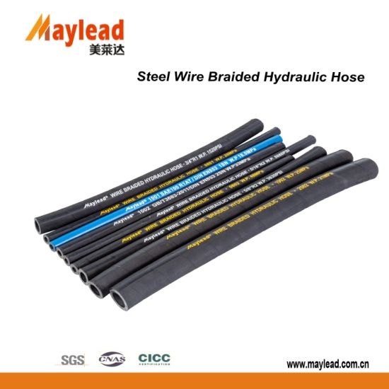 High Quality High Pressure Steel Wire Braiden Hydraulic Hose pictures & photos