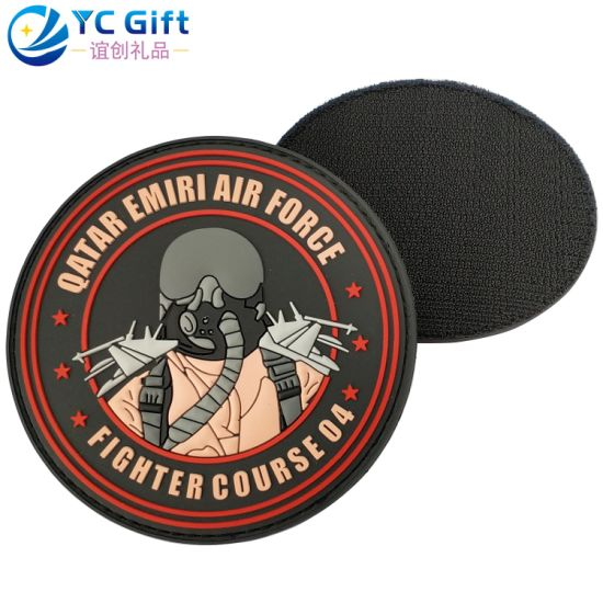 Custom Garment Accessories PVC Patch Military Shield Tactical Gear Heat Transfer Woven Badge Fashion Decoration Sticker Label Silicone Rubber Patch for Police