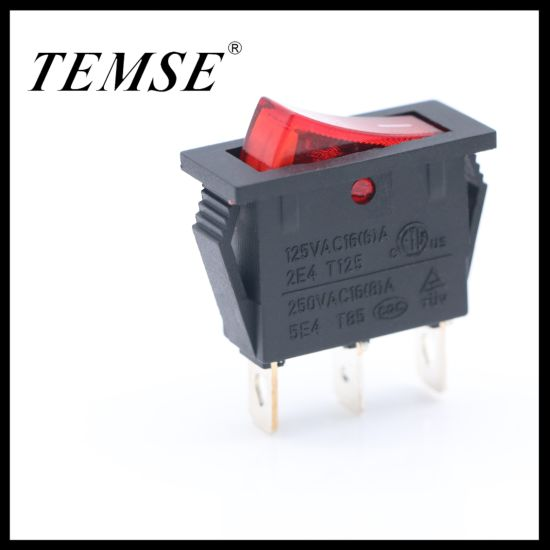 Temse Factory Supply 3pin on-off Rocker Switch