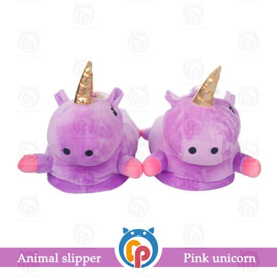Factory Price Hot Cartoon Cute Plush Purple Lady Slipper