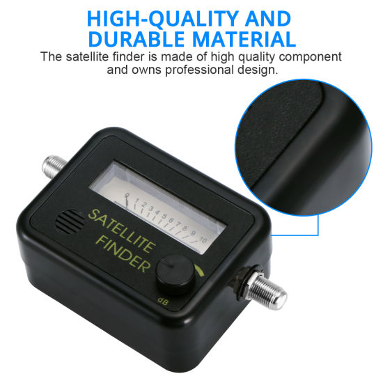 Analog Dish DirectTV Strength Meter Buzzer Compass FTA Satellite Signal Finder