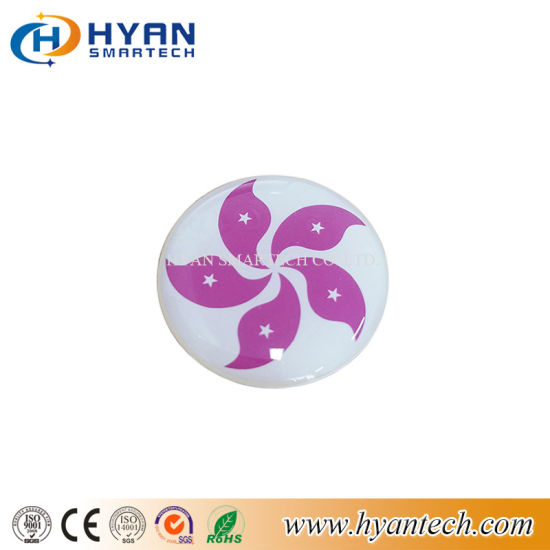 Round RFID Dome Epoxy-Tag with Adhesive on Back Side pictures & photos