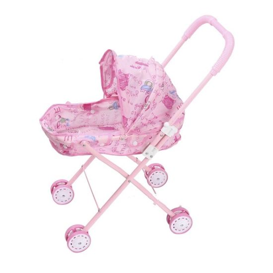 Top Sale Girl Toy Baby Doll Stroller for Kids to Play