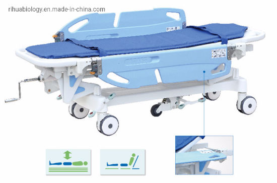 Rh-D103 Hospital Luxurious Rise and Fall Stretcher Cart