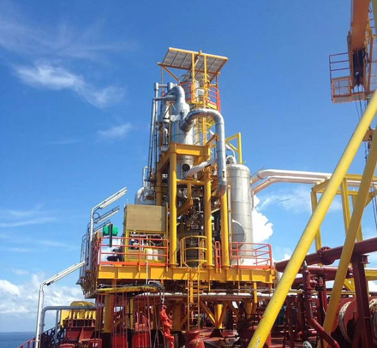 Low Pressre Petroleum and Gas Recovery System for Offshore Platform