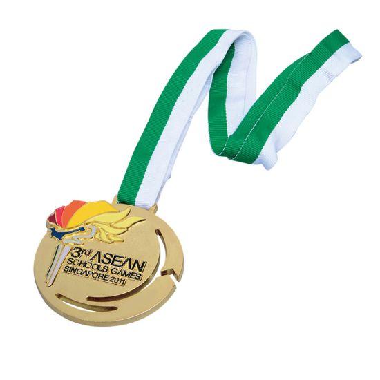 Gold Zinc Alloy Sports Champion Honor Blank Custom Metal Medal