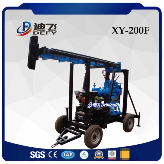 Xy-200f Best Price Portable Water Well Borehole Drilling Rig