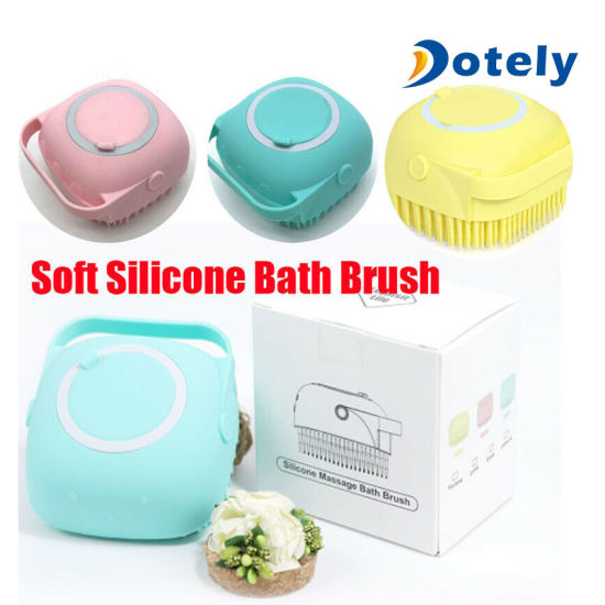 Soft Silicone Bath Brushes Body Exfoliator Massage Baby Cleaning Dispenser Brush