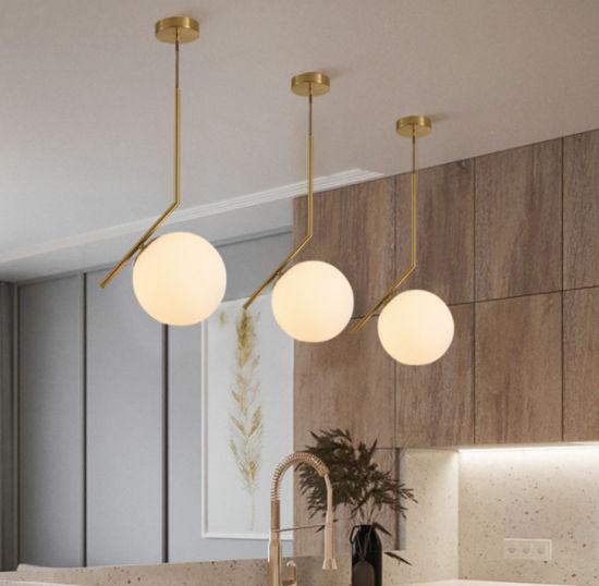 Luxury Bar Living Room Modern Simple Glass Ball Pendant Light