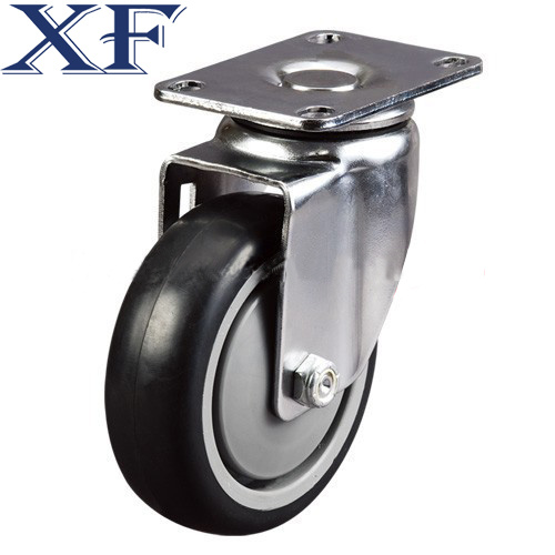 Heavy Duty Solid PU Trolley Industrial Caster Wheel pictures & photos