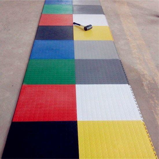 China Garage Floor Tiles Interlocking Rubber Or Pvc Various Colours