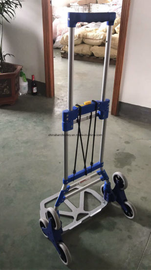 6 Wheel Stair Climbing Cart Folding Trolley Luggage Hand Truck
