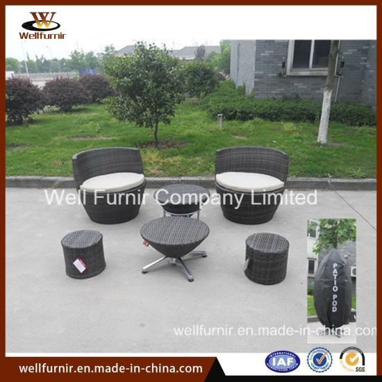 Stacktable Patio Set/Rattan Chair/Wicker End Table/Rattan Chair Set pictures & photos