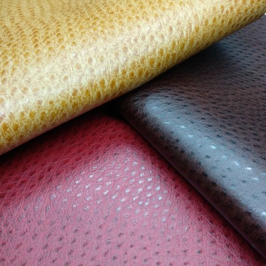 Ostrich Pattern PU Leather Leather for Sofa / Furniture-D035