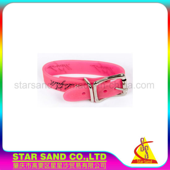 china customized soft rubber dog collar pvc waterproof silicone
