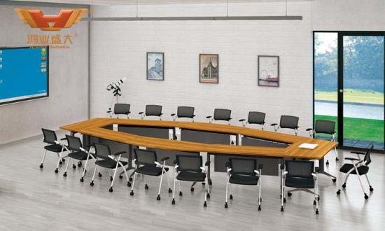 china folding conference table multi shape foldable meeting desk
