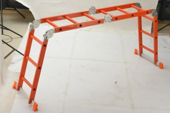 SGS 4X3 Steps Folding Aluminium Multi-Purpose Ladder with Small Hinges pictures & photos
