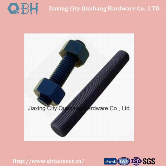 "Heavy Hex Bolts ASTM A193 B7 1/4""-2"" Black Thread Rod Stud Bolts"